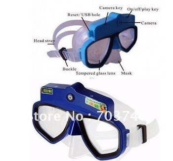 Free shipping Scuba Diving Mask HD Camcorder and Snorkel - 10 Meters underwater--4GB