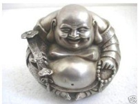Excellent Tibet Silver Buddha Statue by EMS 100% free shipping