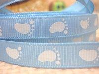 50Y029 david ribbon 3/8 '' baby footprint grosgrain ribbon hairbows printed ribbon freeshipping