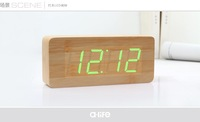 Wooden Led Time Display+Modern Design+Sound Control+Date/Time/Temerature
