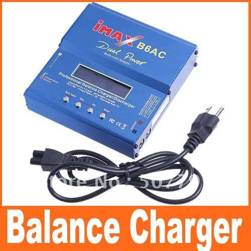 IMAX B6AC balance Charger Lipo NiMH 3s 4s 5s 11.1V 7.4V-22.2V Battrger B6-AC 2S-6S B6 Charger with Leads & LiPo Balancer(China (Mainland))