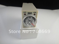 AC 220V Delay Timer Time Relay 0~10 Second H3Y-4 & Base(China (Mainland))