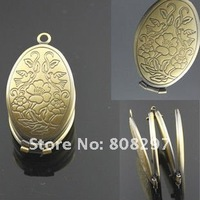 DIY 33mm Fashion Necklace,Pendant Bronze European style Prayer Craft Photo Frame Locket Box,Jewelry Finding 30pcs/lot