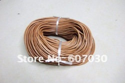 Wholesale 1.5mm Natural Real Leather Cords Round 100Meter Jewelry Cord(China (Mainland))