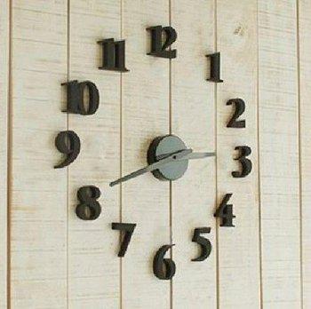 Retail Fashion DIY clock, mute electronic wall clock, decorative wall clocks