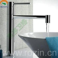 hot selling cold & hot water 360 swivel single lever basin faucet mixer taps, new design chrom finish