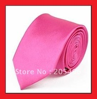 100% NEW Silk Elegant Woven solid color polyester Jacquard business dress tie mens necktie cravate pink Best selling wholesale