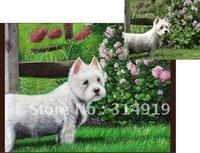 100% Handmade Animal Canvas Art,Original Pet Oil Painting-Free Shipping,High Quality
