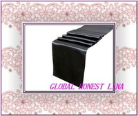 High quality black satin table runner