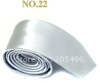 Free shipping 100% Silk Classic Man dress ties necktie silver grey color free shipping wholesale