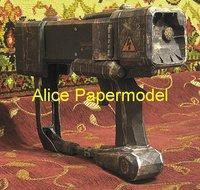 [Alice papermodel]1:1 Fallout Laser gun Assault Rifle automatic rifles weapon toy gun models