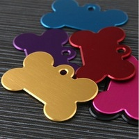 Fashion small size  2*3cm  Bone metal dog id tag