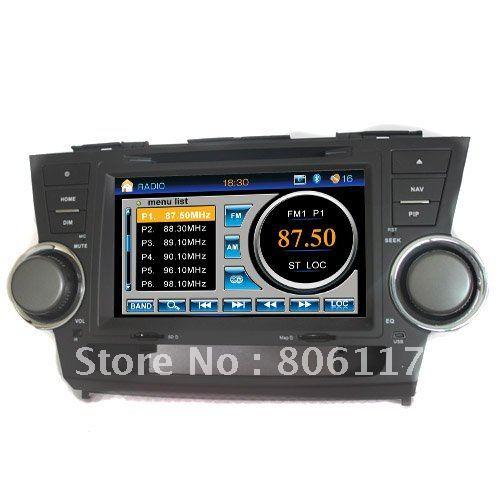 7 inch car dvd player DVD+AM/FM+SD/USB+IPOD+Analog TV+BT+3D UI with GPS DVB-T for TOYOTA HIGHLANDER(China (Mainland))