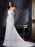 Empire Waist Strapless A Line Beading BackLess Wedding Dress