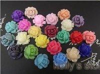 hotselling wholesale  16pcs nice Mixed  Beautiful resin cabochons  flowers