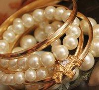 Multilayer, pearl, elephants, bracelets bracelets,  alloy,free shipping