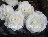 High Quality Silk Artificial Simulation Creamywhite Peony Rose Camilla Head DIY Jewelry Flower Bouquet Brooch Hair ware 8cm