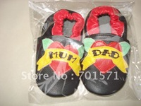 Guaranteed 100% soft soled Genuine Leather baby shoes1009