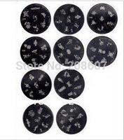 Lowest Price Free Shipping Nail Art Professional Printing Stamper Image  Plates Big size 6.5diameter plates 20pcs/lot