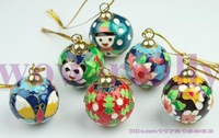 Free shipping! New10 PCS CHRISTMAS ORNAMENT PRETTY CLOISONNE BALL 4.5cm Gift