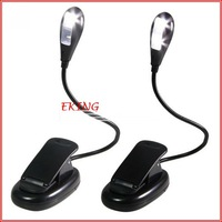 Amazon Kindle Clip-On LED Book Light EMS Free Shipping 2 LED Bulbs/ LED Ebook light for Nook Color