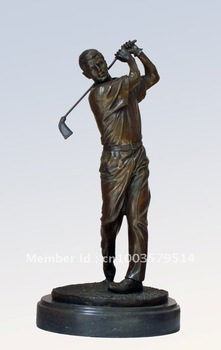 Free shipping door to door! E-shop wholesale&retail--bronze golf sculpture