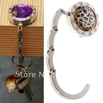 Fashionable Foldable Rhinestone HandBag & Purse Hook Hanger