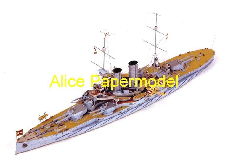 [Alice papermodel] Long 75CM 1:180 World War I Austrian-Hungarian battleship cruiser RADETZKY warship boat models(China (Mainland))