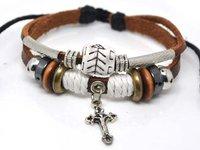 L-0017-free shipping(10 pcs per lot)!wholesale & retail newest fashion leather friendship bracelets