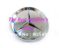 50pcs Free Shipping Mercedes Benz Full Chrome Wheel Center Cap Cover Hub Cap Car Emblem Badge Ultra-high Quality 75MM Or 68MM