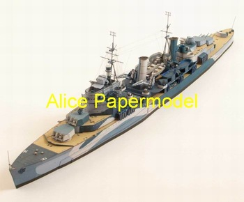 [Alice papermodel] Long 65CM 1:250 WWII British battlecruiser destoryer Belfast warship military boat models