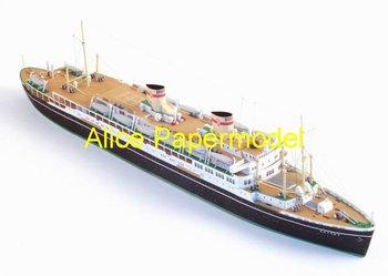 [Alice papermodel] Long 50CM 1:250 passenger liner crusise ships boat models