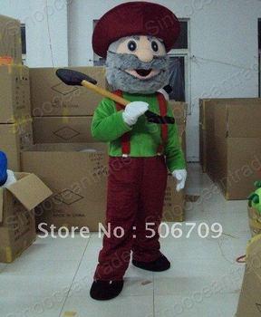Gold Miner Vegas Halloween Mascot Costume Animal mascot costume