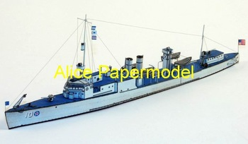 [Alice papermodel] 1:250 WWII US destroyer and submarine boat ship models
