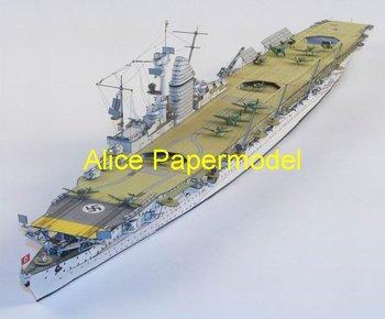[Alice papermodel] Long 1 meter WWII Greman Aircraft carrier Graf Zeppelin battlecruiser ship models