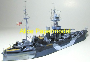 [Alice papermodel] Long 36CM 1:250 WWII British Monitor HMS Roberts battlecruiser boat ship military models