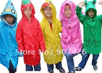 Free shipping wholesale Funny rain coat / Children's raincoat 24pcs/lot