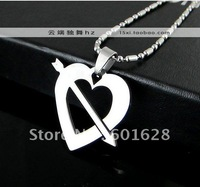 Stainless steel cutting wholesale silver necklace pendant necklace silver necklace pendant Lovers necklace