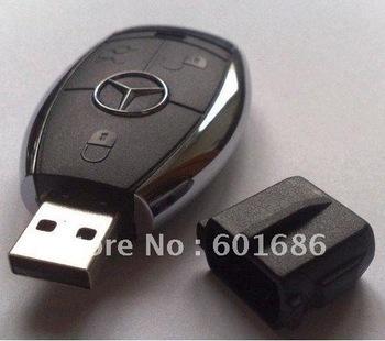 4GB Car key shape USB 2.0 Flash Drive Stick Guaranteed full U disk 4G Cartoon memory pen drive card Key New Hot