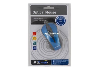 retail and wholesale  USB Scroll Wheel 3D Optical Mouse for Laptop/PC