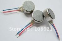 3V Coin Vibration Vibrating Vibrator Micro Motor Flat 8mm diameter 3.4mm thickness Free shipping