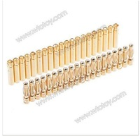 20 x 4.0mm Gold Bullet Connector Banana Plug Battery 19319
