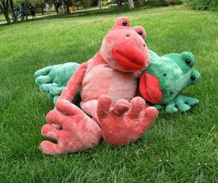 Blazing Red Lips frog plush toy plush toy frog soft stuffed toy big size factory supply freeshipping