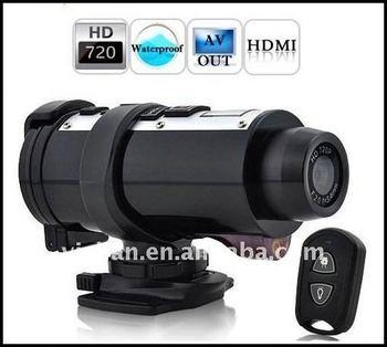 HD Remote control mini 720p helmet camera mini 720p helmet camera