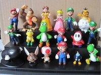 Wholesale - PVC Super Mario Toy Figurine Bros yoshi Figure dinosaur Figure cos 18style/Set Free Shipping