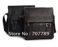 2011 new style men handbags leather messenger bag shoulder black brown free shipping