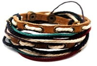 D-0028-free shipping(10 pcs per lot)!wholesale & retail fashion 100% cord leather wristbands