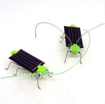 100pcs Solar Toy, Solar Grasshopper,Green gift,Solar Powered Grasshopper