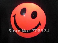 Free Shipping 5cm 12pcs/lot LED ball flashing smile face ball bouncing ball, flashing jump