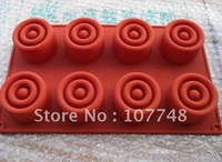 Soap Molds Cake Molds 8-Cylinder Christmas Gift Flexible Silicone Mold/Mould For Soap Candle Candy  Jelly Cake Craft